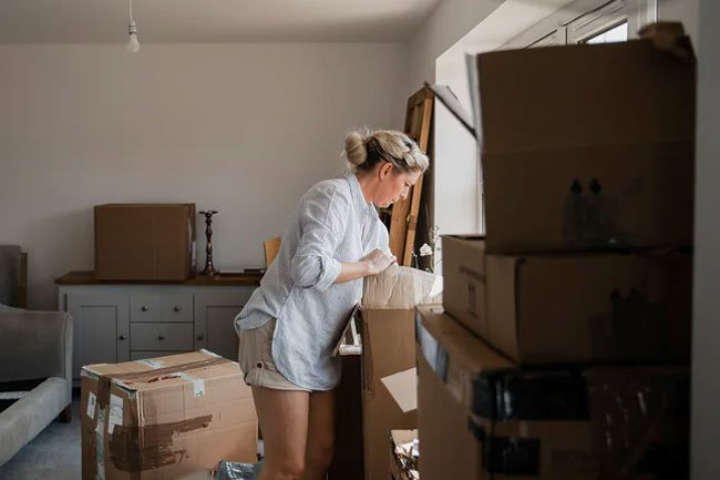 Moving your home and unpacking can be a lot of exercise and calorie burning.