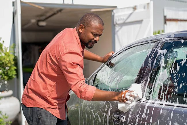 Washing the car is a great way to burn calories, you can burn 135 to 200 calories in 30 minutes.
