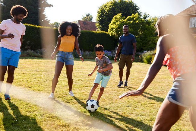 Family fun can be a great calorie burner too.