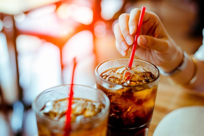 Sugary drinks increase blood sugar quickly, but then you may crash.