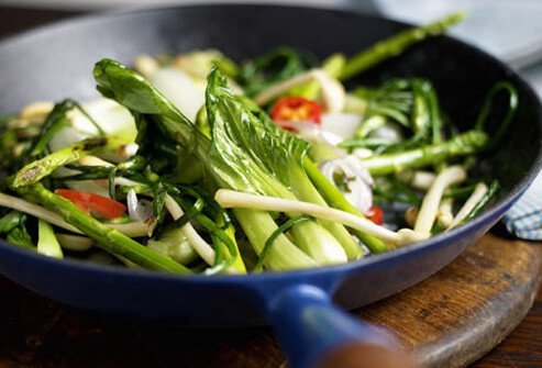 Greens vegetable stir fry.