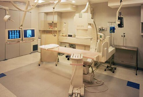Photo of radiation treatment for cervical cancer.