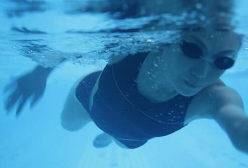 Photo of woman swimming.