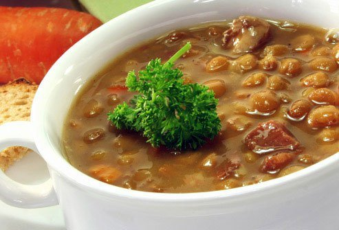 Lentils are little, but they pack in protein -- 9 grams per serving.