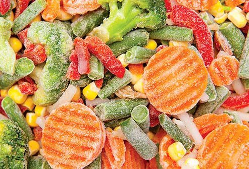 You'll generally get just as much nutrition from frozen vegetables as you do from fresh, sometimes more.