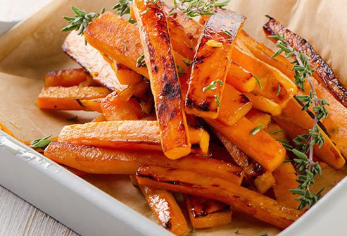 In just one sweet potato, you get 400% of your daily vitamin A needs, and more than a third of your vitamin C.