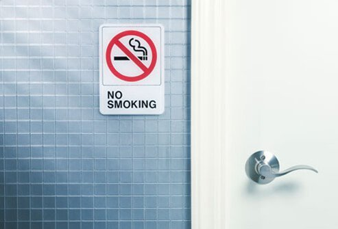 A no smoking sign.