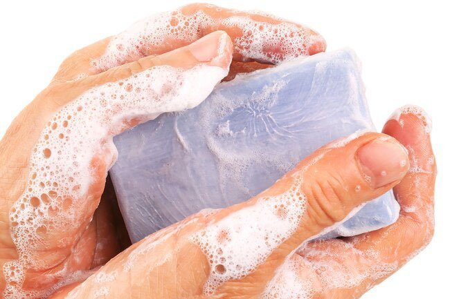 In the bath or shower, limit soap to your armpits, groin, feet, hands, and face