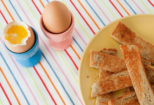 Eggs and toast.