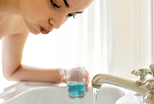 Some mouthwashes are high in acid that hurts sensitive teeth.