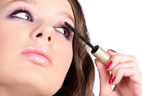 Scratching your eye with a mascara wand can cause an infection.