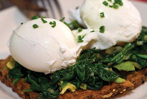 Try your egg poached with some sauteed spinach, or hard-boiled on whole-grain toast.
