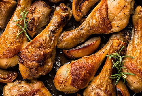 The MIND diet considers poultry a healthier option than red meat.
