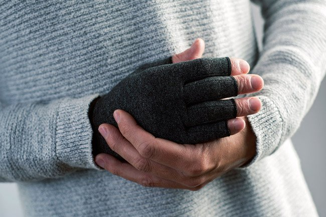 Fingerless gloves help protect your hands while still allowing you to work.