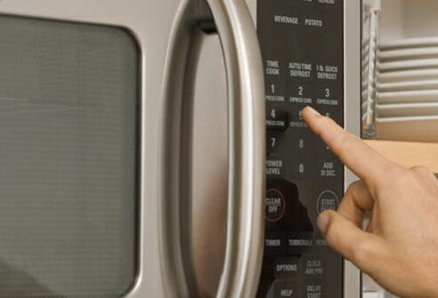 Photo of microwave oven.