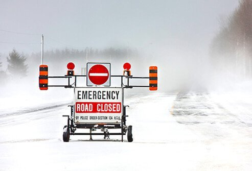 Emergency preparedness rules advise staying with your car if you are stranded in the winter.