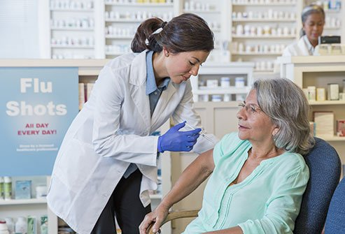 A flu shot can greatly reduce your risk of getting the flu.