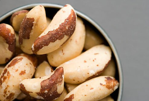 A bowl of brazil nuts.