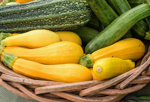 Summer squash contains several nutrients for healthy eyes.