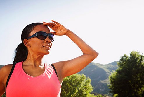 Look for sunglasses that block out at least 99 percent of UV.