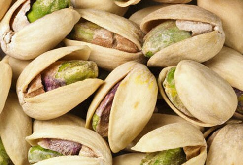 Photo of pistachio nuts.