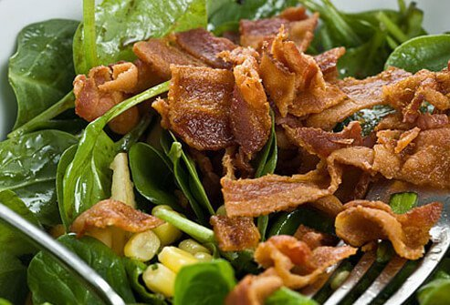 Bacon and spinach salad.