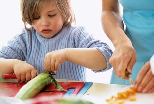 Kids who help prepare a meal are much more likely to eat it.