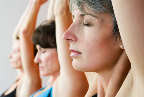 The gentle practice of Viniyoga incorporates deep breathing with gentle stretching.