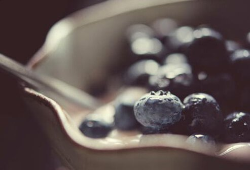 Photo of bowl of blueberries.