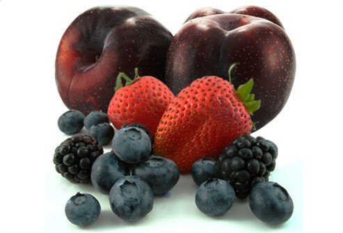 Blackberries, blueberries, strawberries, and plums weighed in with the highest 'total antioxidant capacity' of any food for healthy skin.