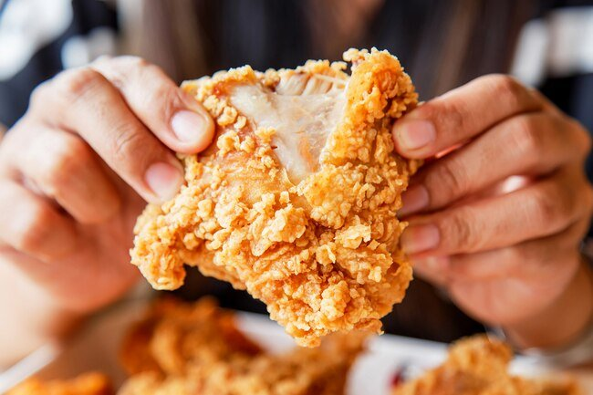 Fried chicken is high in fat, calories, and sodium, which is bad for your heart.