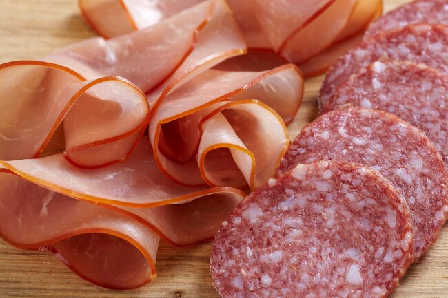 Processed meats high in sodium and saturated fat are not heart healthy.