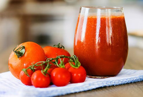Tomatoes are high in potassium and water content.