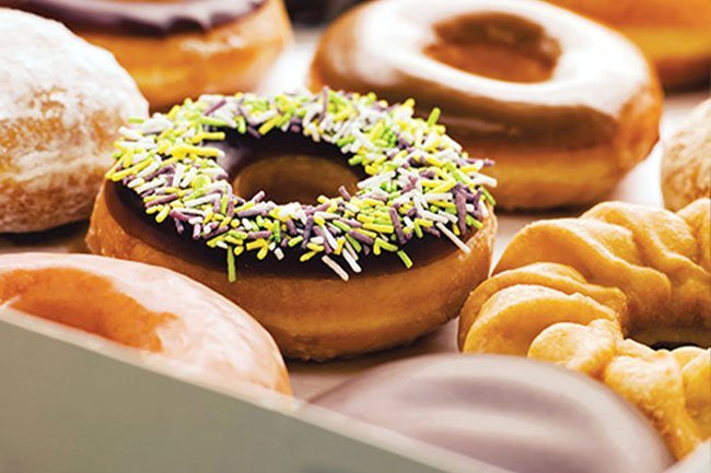 Doughnuts can help your mood. So, if you must, make them a treat, not a routine.