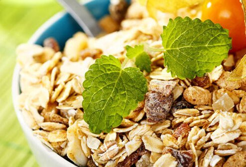 Whole-grain foods help get enough fiber into your daily diet.