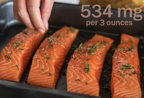 Wild salmon has more potassium than farmed.