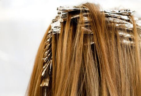 Photo of hair coloring foils.