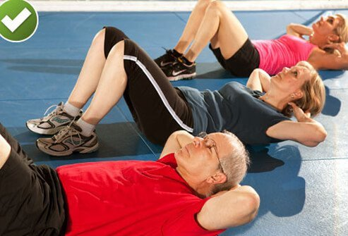 One of the classic core-strengthening workouts is the partial stomach crunch.