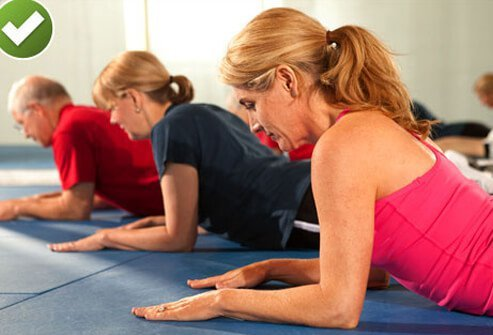 Press-up back extension is a great treatment to ease pain.