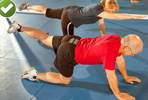 The bird dog is a great exercise to stabilize the low back.