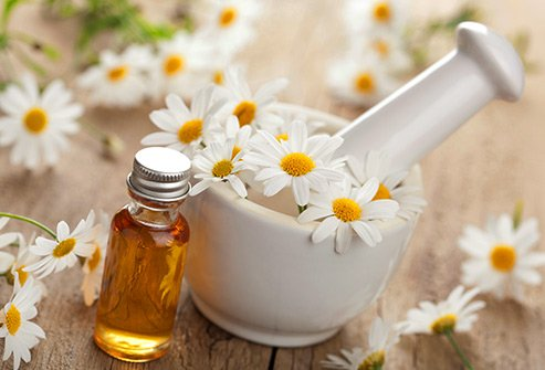 chamomile and peppermint soothe red, inflamed, irritated skin.