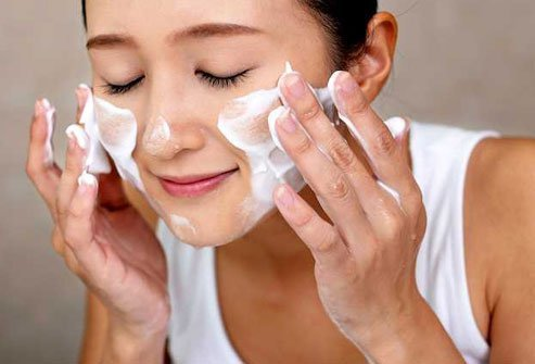 Baking soda is mildly abrasive. Use it as a gentle face cleanser.