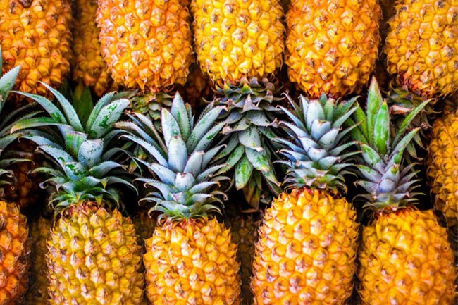 Pineapples were originally transported from the Caribbean Islands and they are high in vitamin C that boosts the immune system.