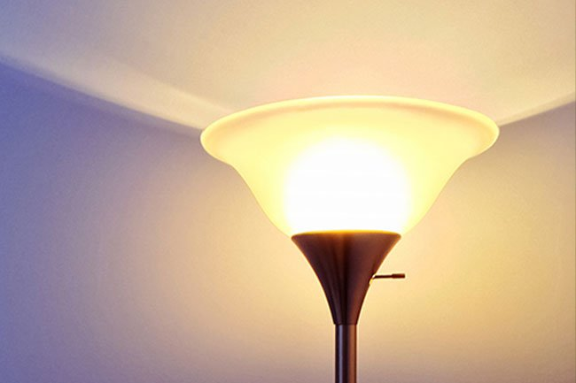 The bulbs in tall torchiere lamps can get twice as hot as your oven.