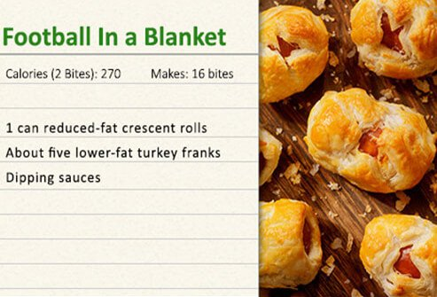 Football in a blanket recipe.