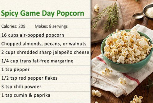 Spicy pop corn recipe.
