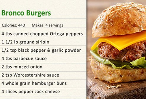Bronco burger recipe.