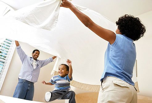 Changing your bed sheets weekly keeps away dust mites.