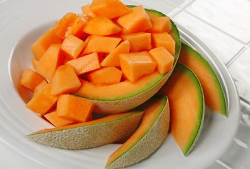 You can enjoy cantaloupe any time of day.