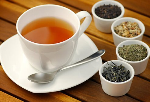 Like red wine, tea contains catechins and flavonols.